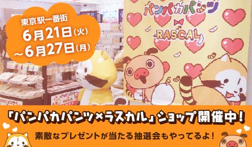 東京駅いちばんプラザ パンパカパンツ×ラスカルコラボショップ開催中!